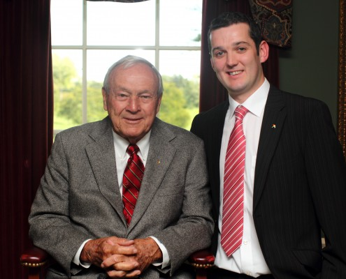 Cathal with Arnold Palmer_Sullivan Golf Travel