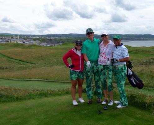 Happy Golfers_Lahinch Old Golf Course_Ireland_Sullivan Golf Travel