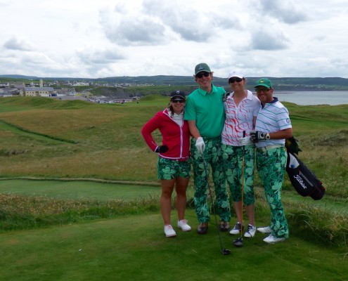 Happy Golfers_Lahinch Old Golf Course_Ireland_Sullivan Golf Travel